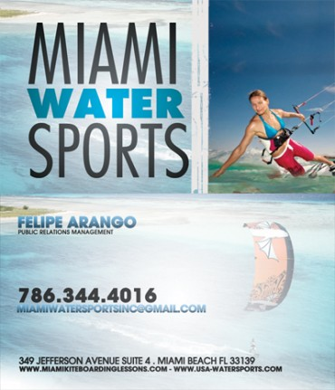 """Miami Water Sports"" Business Card"